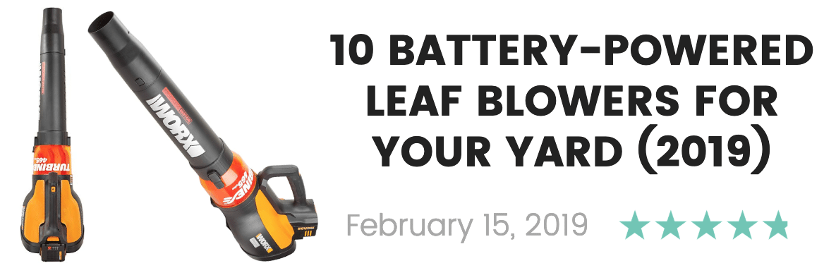 best battery-powered cordless leaf blowers