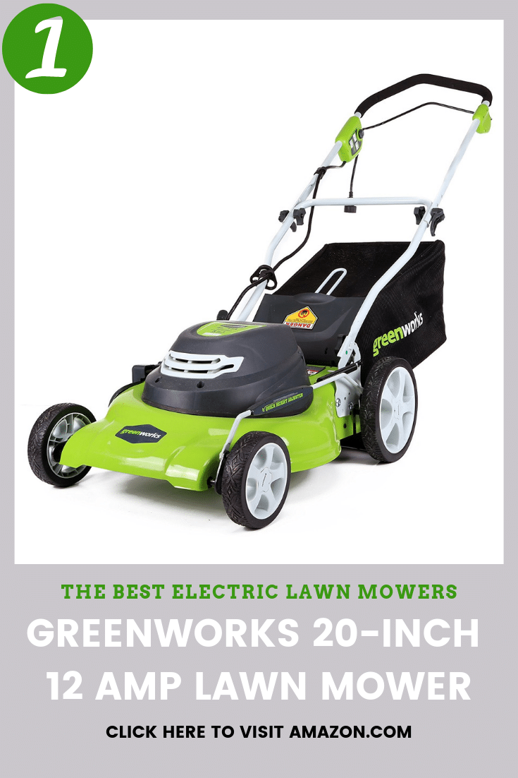 the best electric lawn mower to buy is the Greenworks