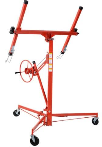 Goplus Red Drywall Lift Panel Hoist Jack Lifter