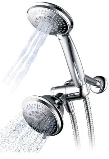 Hydroluxe Stainless Steel Hose Handheld Showerhead & Rain Shower