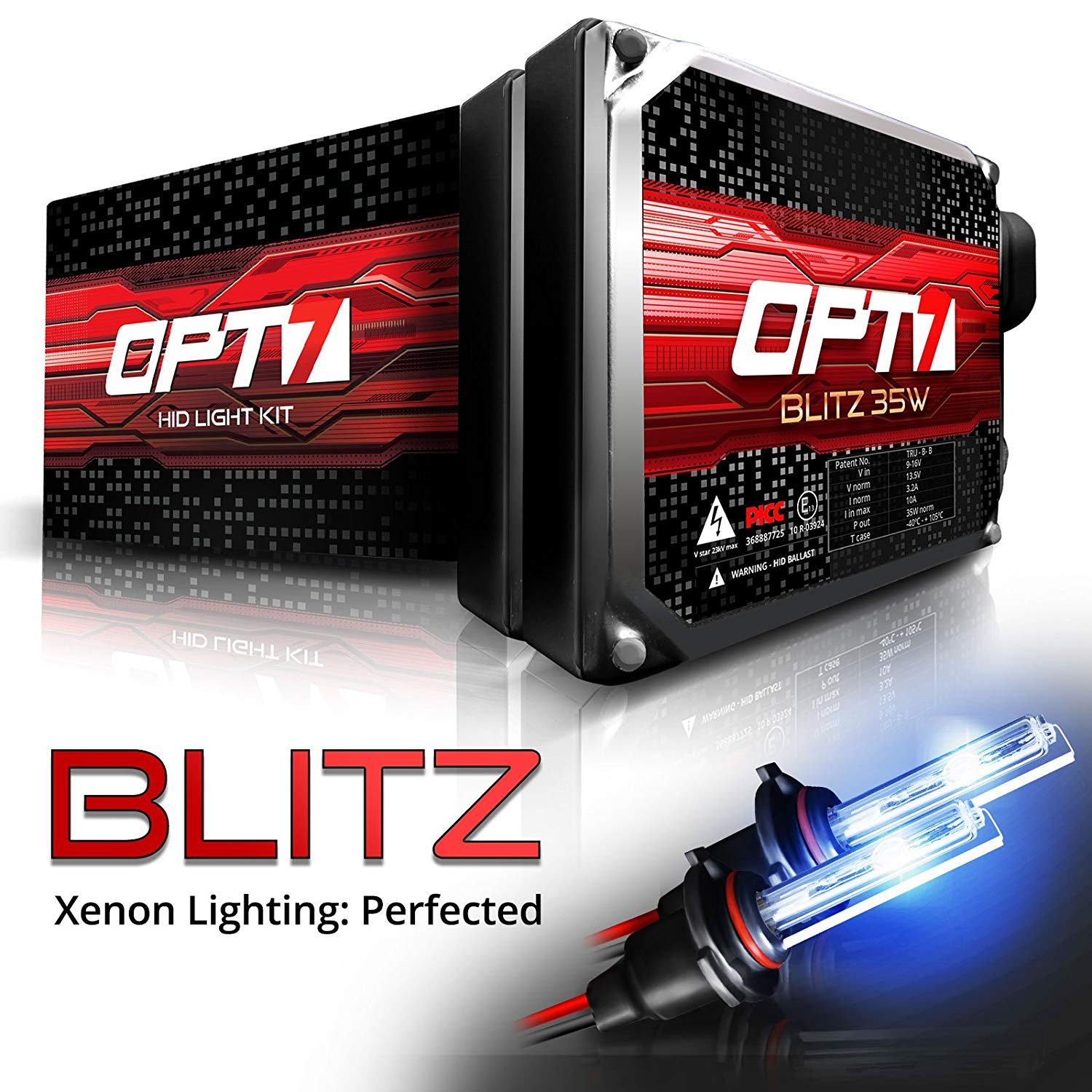 OPT7 Blitz 35w 9006 HID Kit - 3.5X Brighter - 4X Longer Life