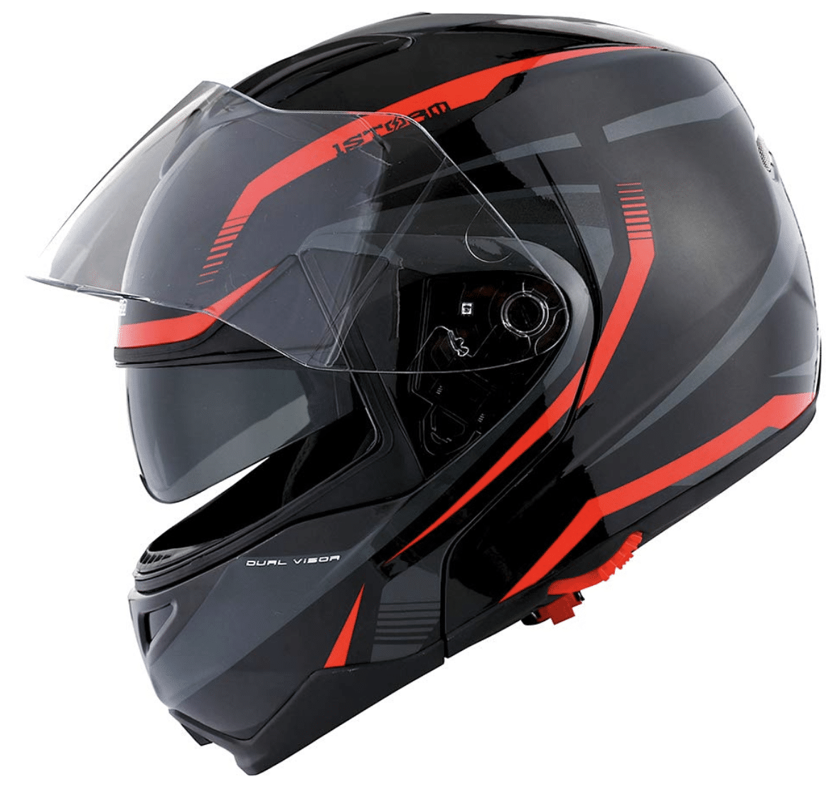 1Storm Motorcycle Street Bike Modular/Flip up Dual Visor